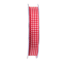 Band Vichy Röd 15mm