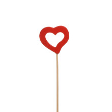 Stick Hjärta Öppet 4cm