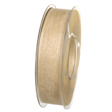 Band Beige Organdy 25mm