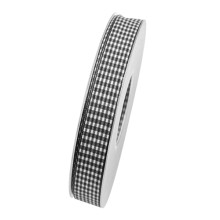 Band Vichy Svart 15mm