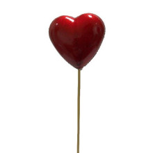 Hjärta på Pinne Vinröd