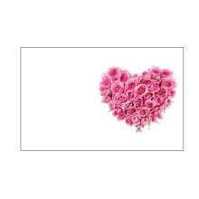 Kort Oasis Rosa Rosor Hjärta